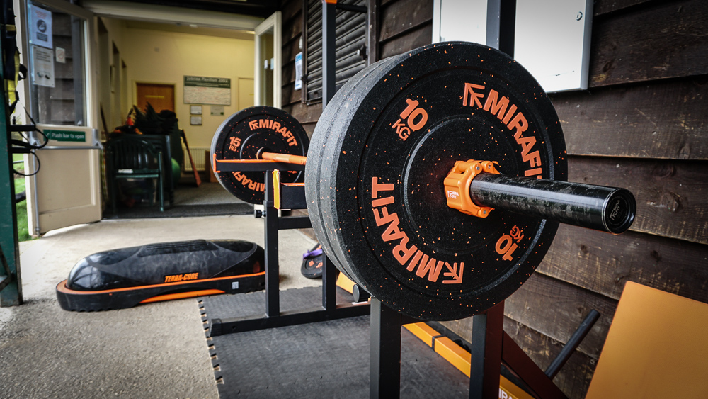Olympic bar with weights